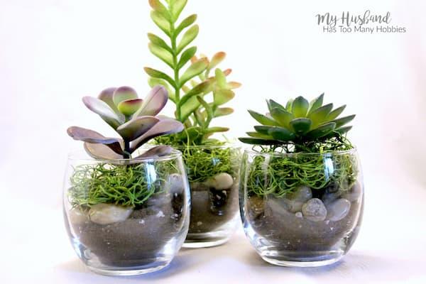 Faux Succulent Planter 4