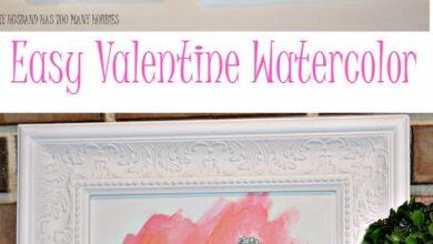 Easy Valentine Watercolor