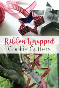 Pin Ribbon Wrapped Cookie Cutters