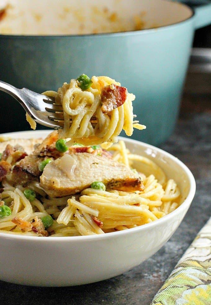 Chicken Carbonara Pasta