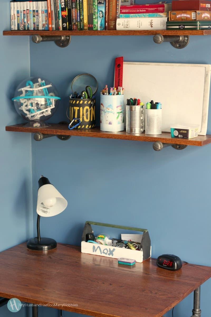 Diy Industrial Pipe Desk Amp Shelves My Husband Has Too