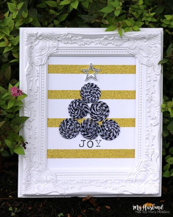 Black & Gold Christmas Tree Art