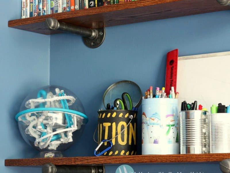 DIY Industrial Shelves and Desk
