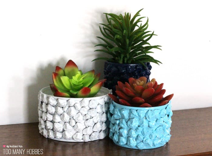 Upcycle Tin Can Pine Cone Planter